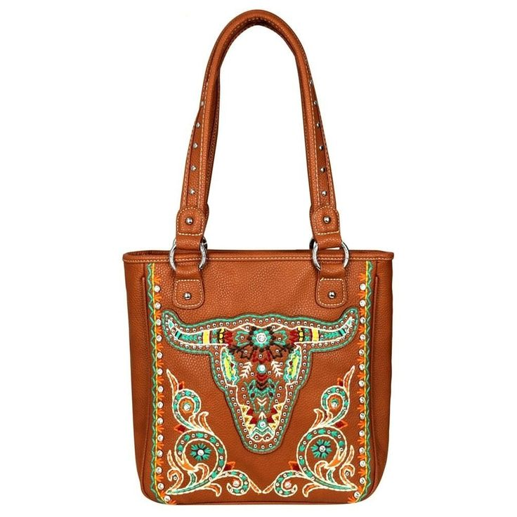 Montana West Embroidered Collection Concealed Handgun Tote Bag