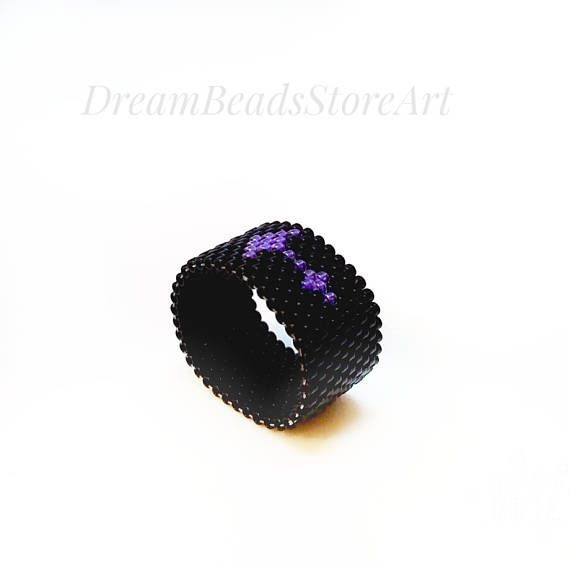 US15.00 Zodiac sign ring Sagittarius ring Astrological ring Seed bead ring His and hers ring Mens black ring Meditation ring #gothic  style ring Dainty beaded ring Custom #birthday ring Beaded gift ring #Astrology gift Ring for mom #gift  #Zodiacsign #ring is nice lovely present as sign #holidays