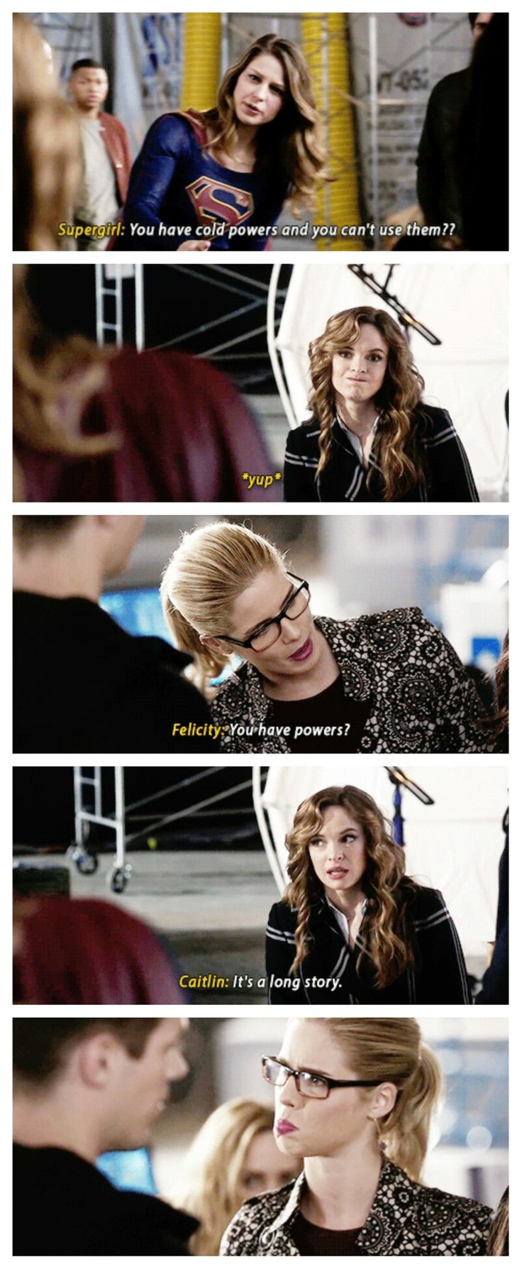 Kara, Felicity and Caitlin #crossover #Supergirl #arrow #TheFlash