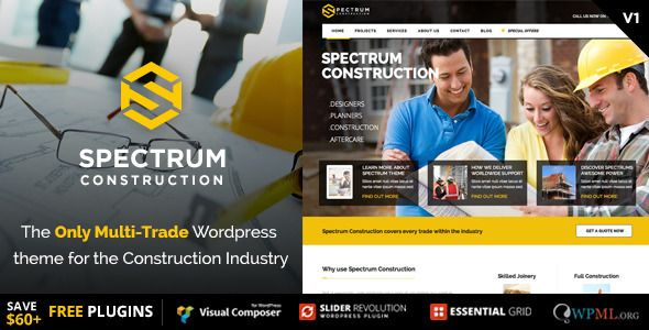 Spectrum Multi-Trade Construction Business Theme Free
