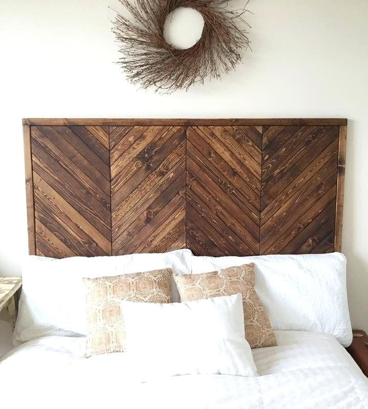 Diy Wood Headboard King Size Jenny We Built A Bed Wooden Headboard