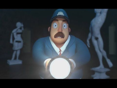 """Check out this delightful and funny 3D Animated Short called """"None Of That"""", and as the museum closes, a security guard has an unusual encounter that he will..."""
