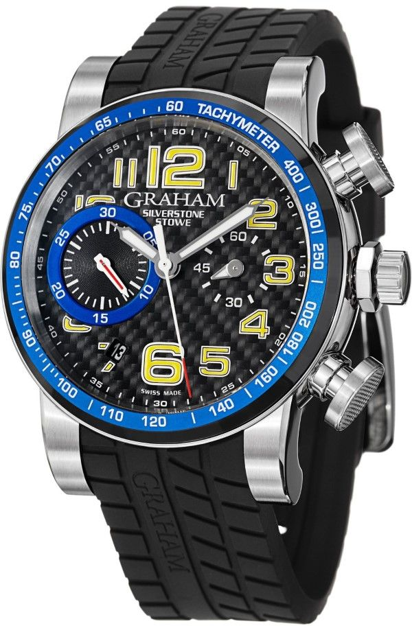 men watches Graham Men's 2SAAC.B04A Silverstone Analog Display Swiss Automatic Black Watch Top men watches