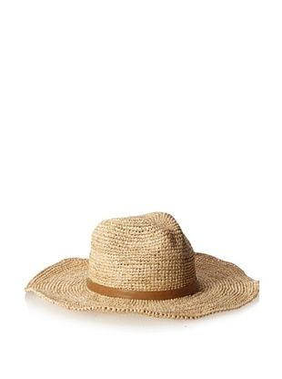 55% OFF Straw Studios Women's Raffia Floppy Hat, Brown
