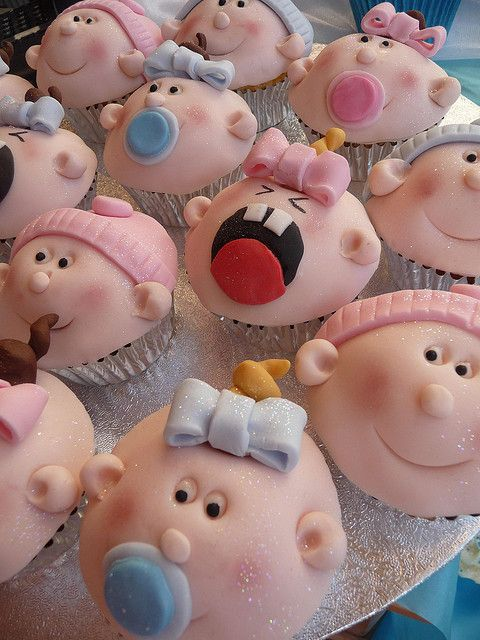 Baby Cupcakes ~ photo only, cute for a baby shower