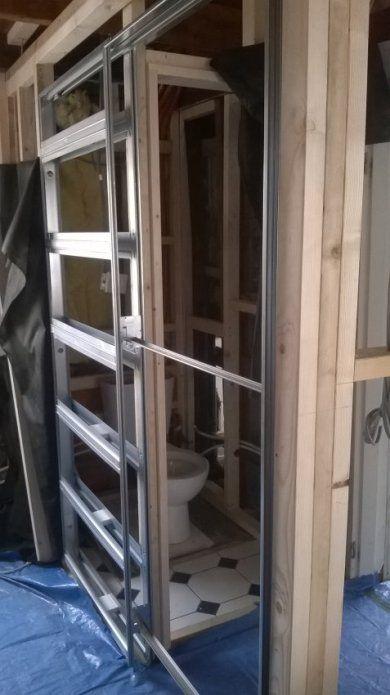 [Image eclisse pocket door aluminium frame fixed in place.jpg] & 27 best Eclisse images on Pinterest | Sliding doors Pocket doors ...
