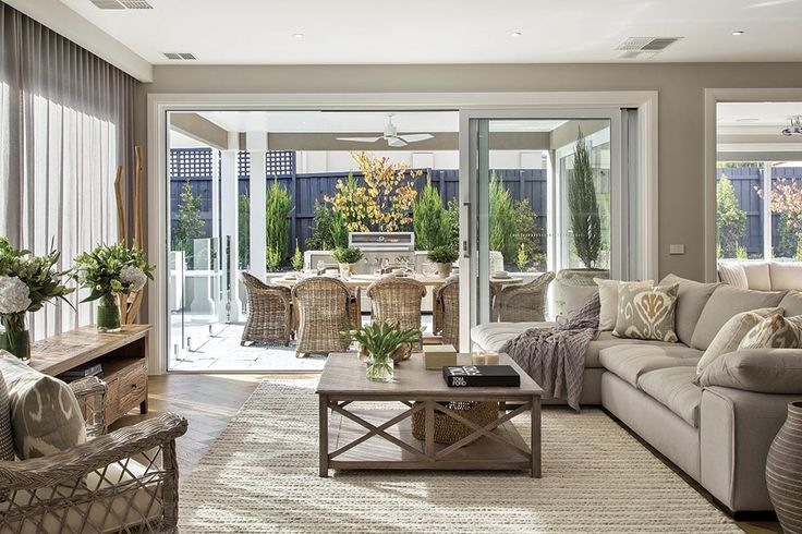 Spacious family room in the Brookwater with Classic Hamptons World of Style.