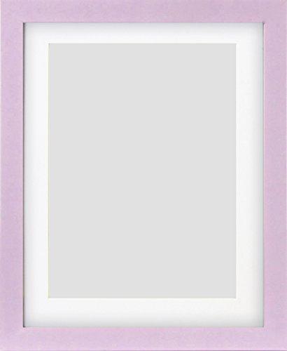 "10x8"" Lilac Glossy Photo Frame With Mount & Glass Window…"