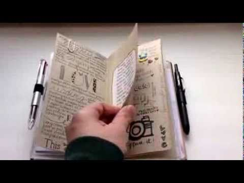 Midori Traveler's Notebook: kinda half art journal half....Filofax?? but not really a planner