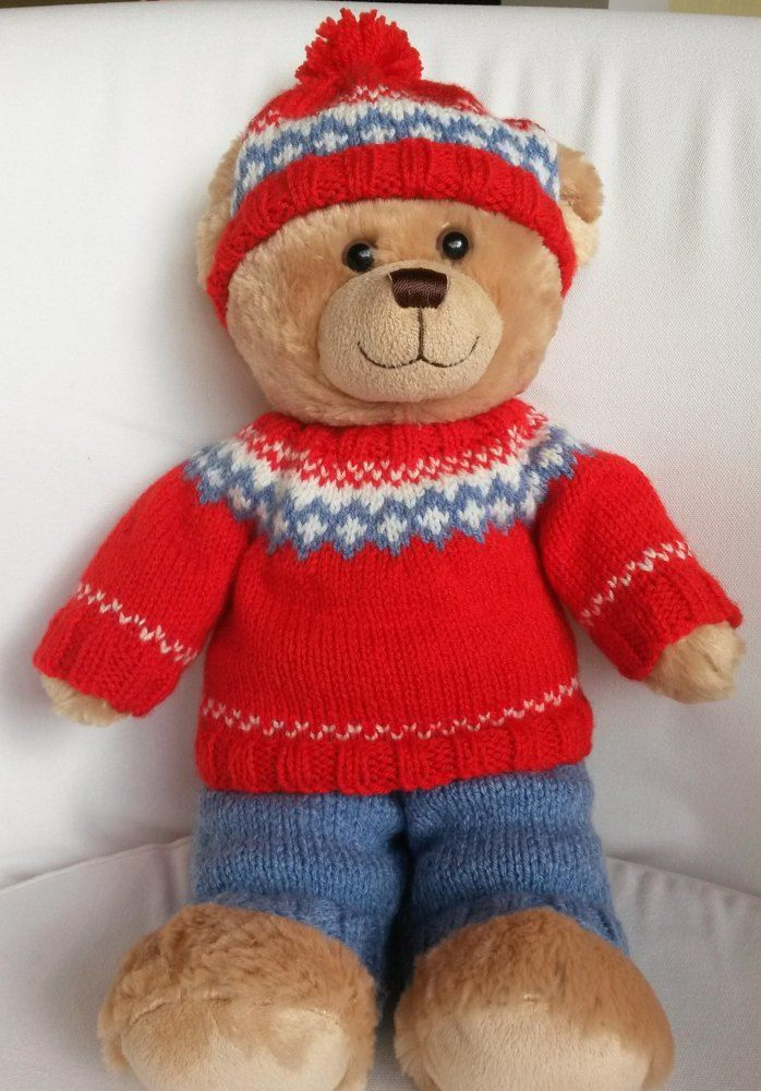 Teddy Nordic Outfit Bear Clothing Pinterest Knitting Bear And