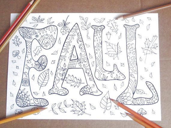 fall kids adults coloring page autumn 4 season home teaching diy doodle school meditation craft activity download printable…