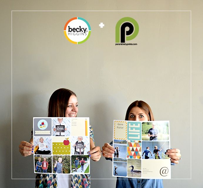 Printing 12x12's from the Project Life™ iOS App // Only $1.99 at Persnickety Prints