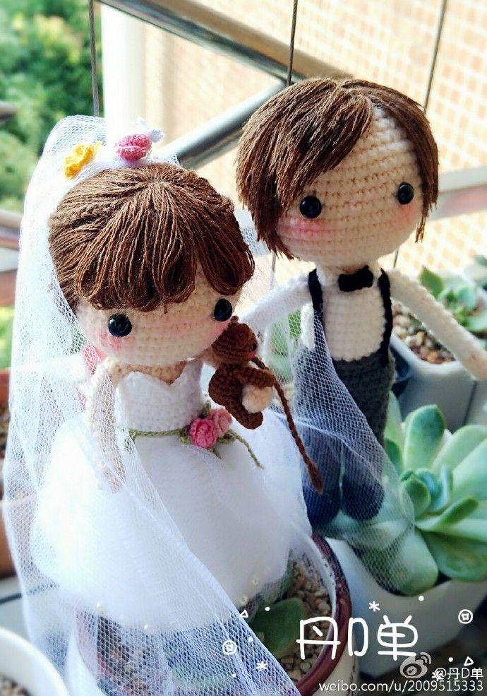 Crochet dolls Wedding Doll——The bride and groom