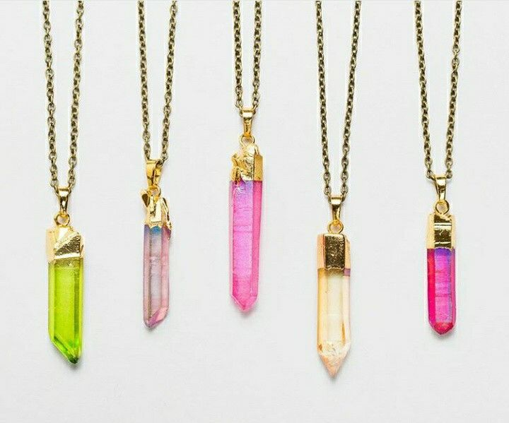 lovely christmad gift_multi colors crystal necklaces for ...