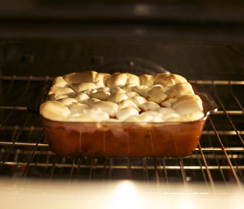 Vegan Dandied yams (yep, vegan marshmallows top this lovely dish) http://bonzaiaphrodite.com/2010/11/a-very-veg-thanksgiving-tofurkey-test-run-and-vegan-dandied-yams-recipe/