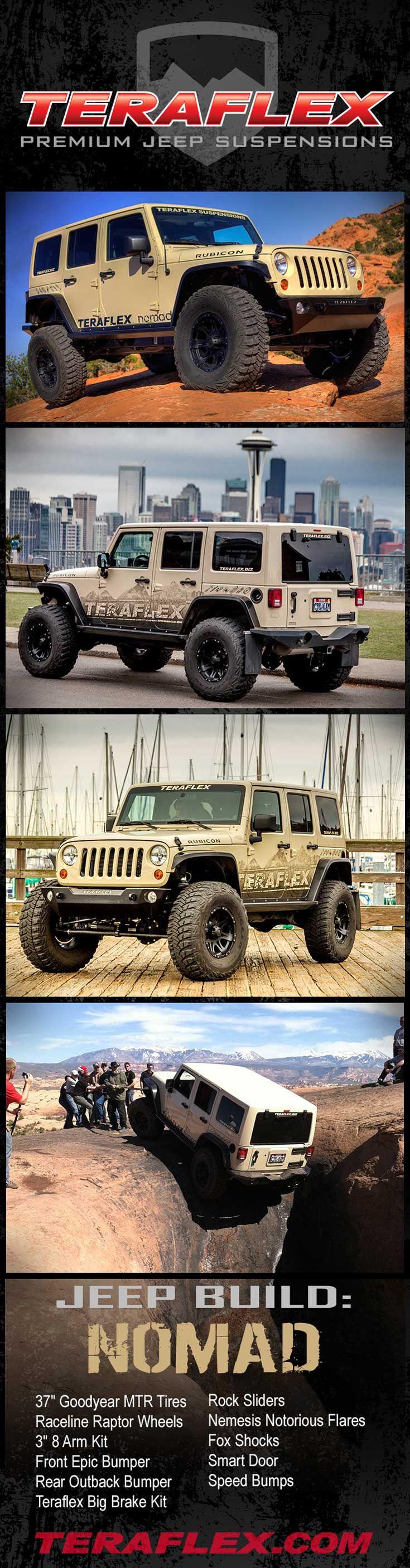 TERAFLEX Jeep Build-Up: Nomad - https://teraflex.com/galleries/54ef6bc124271d00a800005b