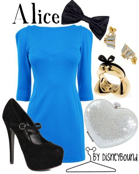 Alice - Alice in Wonderland: Inspiration Outfits, Wonderland Parties, Fashion, Disney Style, Halloween Costumes, Alice In Wonderland, Dresses, Disneybound, Disney Bound