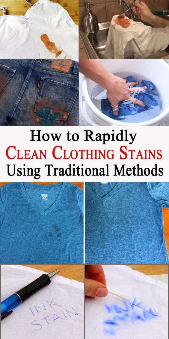 How to Rapidly Clean Clothing Stains Using Traditional Methods