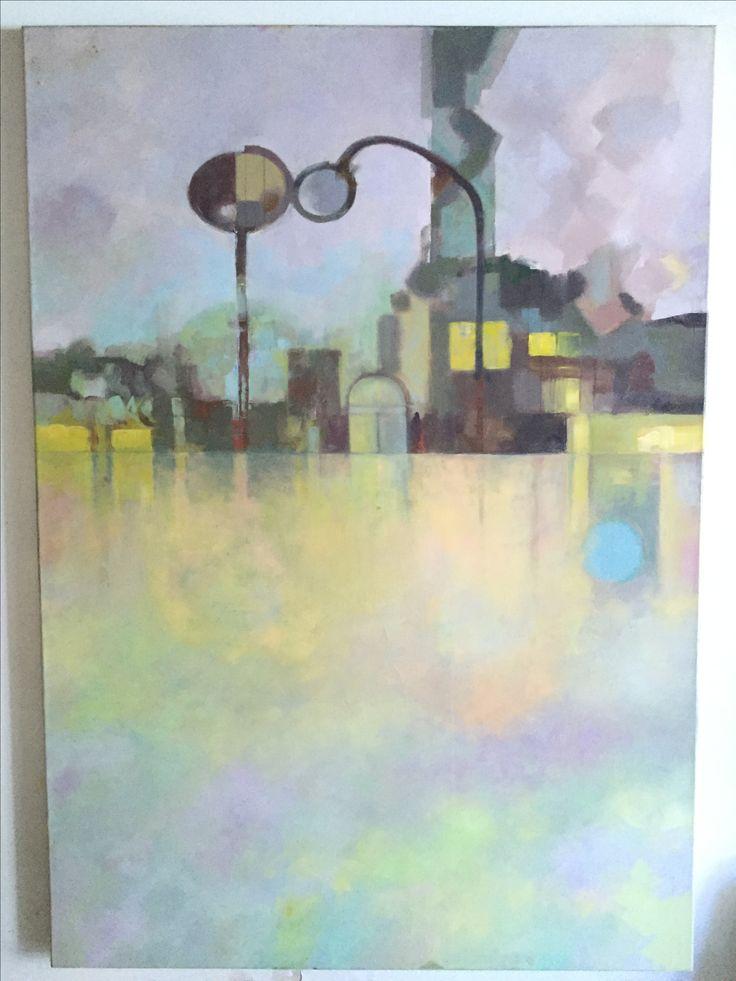 Tropos Urbano oleo sobre lienzo 114*160cms