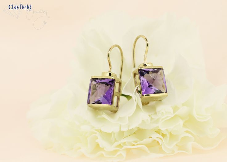 9ct gold and Amythest earrings, by Clayfield Jewellery in Nundah Village, North Brisbane