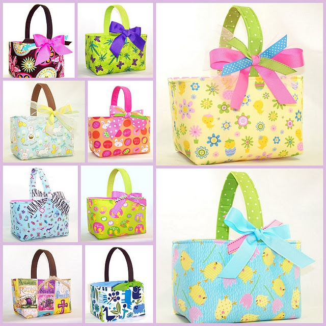 110 best easter sewing images on pinterest fabric dolls fabric fabric easter baskets negle Image collections