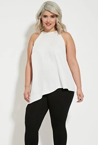 Plus Size Asymmetrical-Cut Top | Forever 21 PLUS #forever21plus