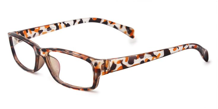 The frame is made of TR90 , which is generally acknowledged as the newest material for glasses. These frames weight only 19 grams but can endure heavy impact, thus can effectively protect your eyes during sports.The bright-colored extremely flexible. Two-toned style with patterned temples is quite popular, will be snapped up very soon.