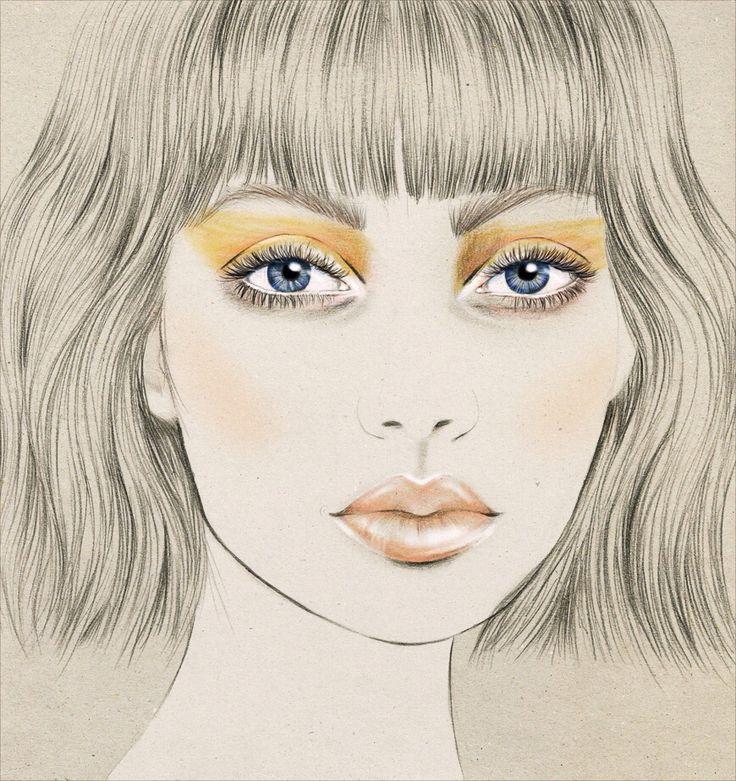 New Zealand Fashion Week makeup for Salasai by MAC Cosmetics illustration by Kelly Thompson www.kellythompson.co.nz