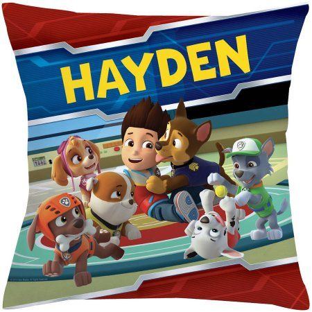 Personalized PAW Patrol Playful Pups Throw Pillow