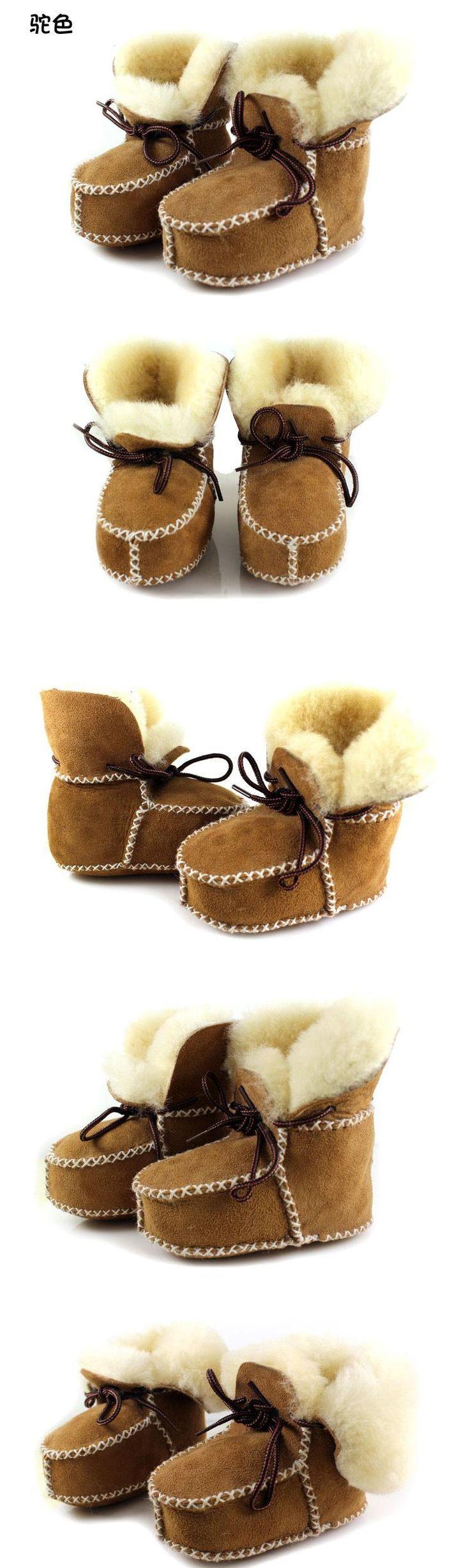 Ru зима шерсть малыша обувь младенцы мягкий нижний снегоступы кожа шитьё девочка мальчиккупить в магазине Dongguan Babytree Garment Co.,LtdнаAliExpress