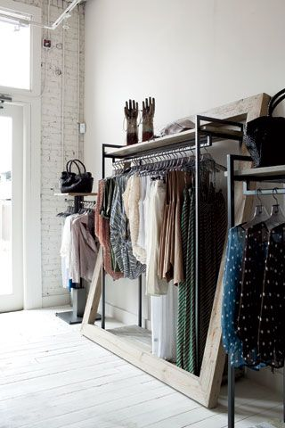 Chic store display but hey...would look great for A walk in closet too.: