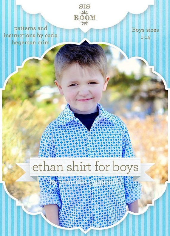 Sis Boom Ethan Boys's ButtonUp shirt PDF by scientificseamstress -For Easter to match Sister's dress