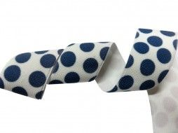 polka dot white and blue