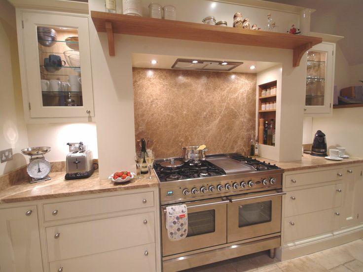 Kitchen cooker and worktops #KitchenDesign  Cream & Oak