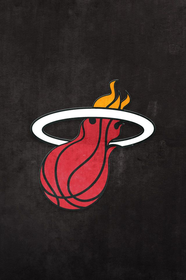25 best ideas about miami heat logo on pinterest miami - Iphone 4 basketball wallpaper ...