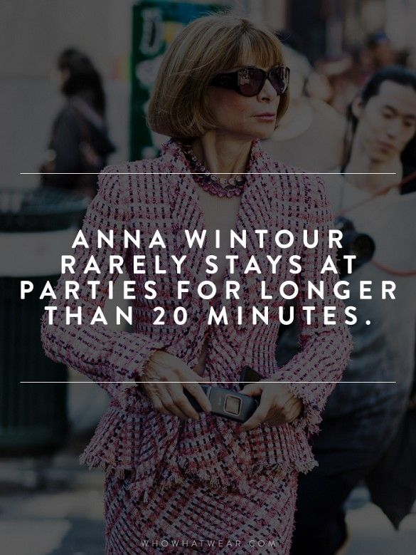 13 (Almost Unbelievable) Facts You Never Knew About Anna Wintour via @WhoWhatWear