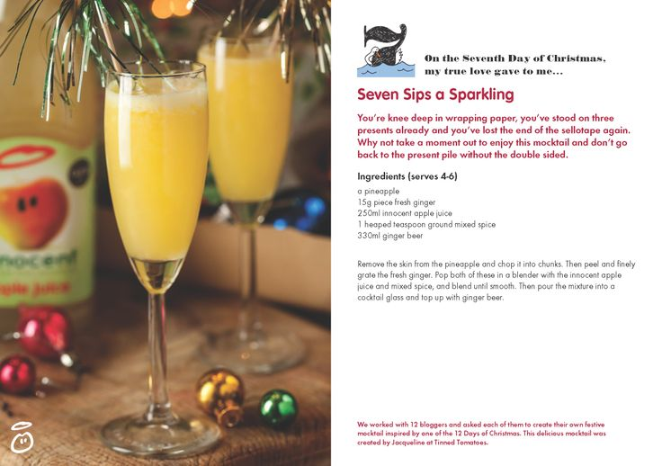 On the Seventh Day of Christmas, my true love gave to me...Seven Sips a Sparkling
