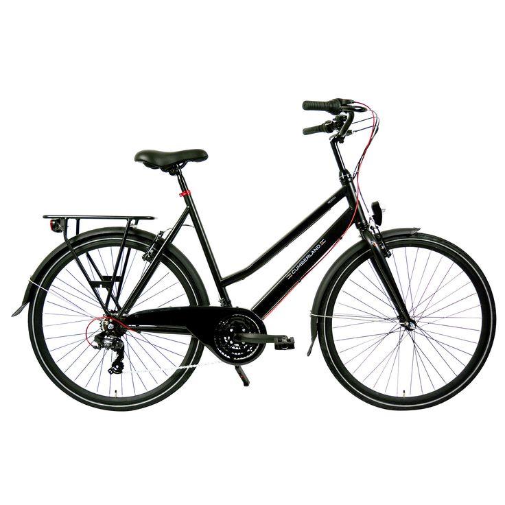 Cumberland Sportieve fiets Preston zwart dames 53cm Zwart  Description: De Cumberland Preston is een ideale luxe sportievedames fiets met voor dagelijks gebruik en lange afstanden. Met de 21 Shimano derailleurversnelling en Shimano index shifter schakel je moeiteloos een versnelling hoger of lager en fiets je altijd lekker licht en in de juiste versnelling. Een sterke degelijke fiets met oversized stalen frame in een mat zwarte kleur met een framehoogte van 53 centimeter. De Cumberland…