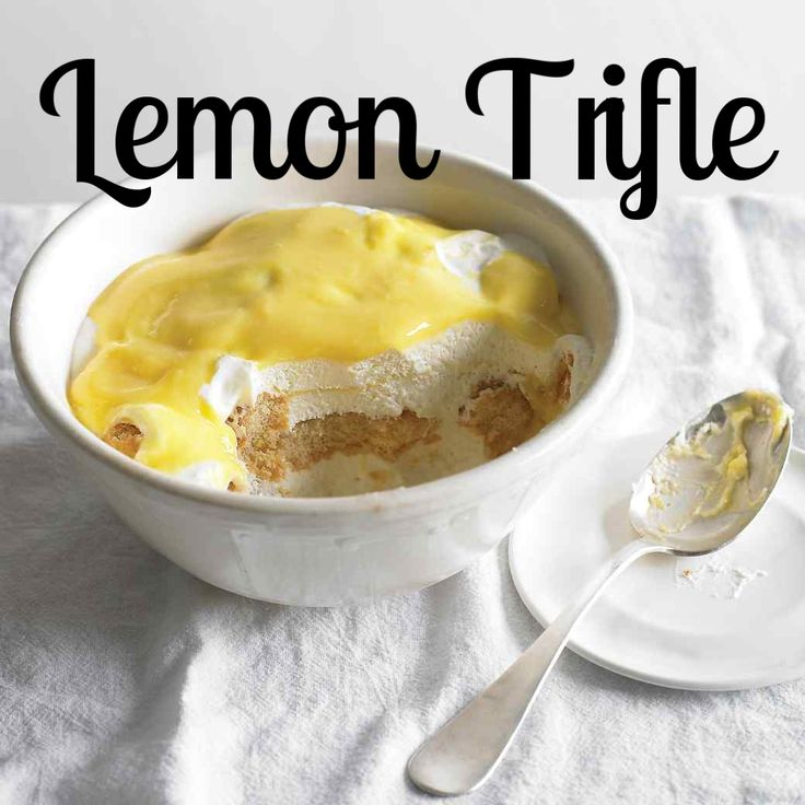 Lemon Trifle | Martha Stewart Living - This dessert with curd and ladyfinger biscuits is a big hit with the whole family.