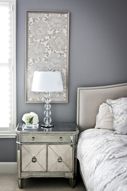 Love the framed wallpaper/fabric for an additional layer of texture without it being overwhelming...or actually having to wallpaper.
