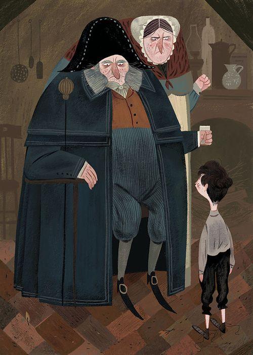 Julia Sarda illustration for ''Oliver Twist'' by Charles Dickens