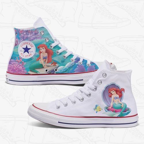 6a6ce904b890 Ariel - The Little Mermaid Custom Converse Shoes