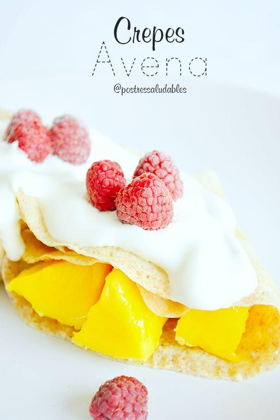 Crepes de Avena! un receta fácil que podrás preparar para tus desayunos, meriendas o cenas más ligeras y saludables. solo 3 ingredientes. Mira como hacer la receta completa aquí