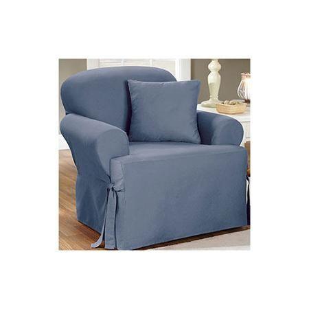 Sofa Sleeper Sure Fit Cotton Duck Chair T Cushion Slipcover Walmart