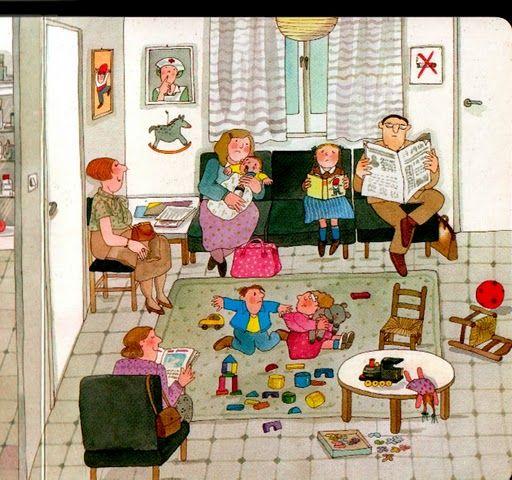 Família al menjador.