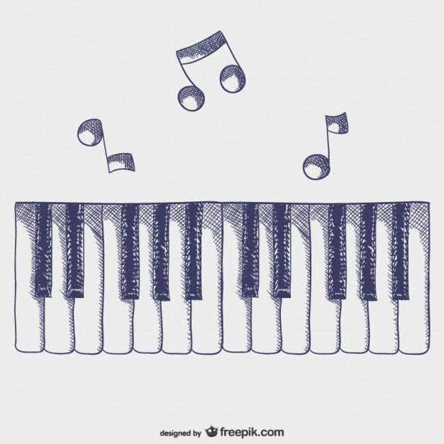 Teclas de piano vector
