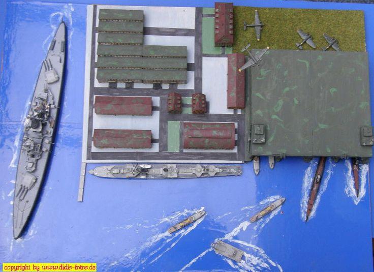 deutscher U-Boot-Bunker in 1:700