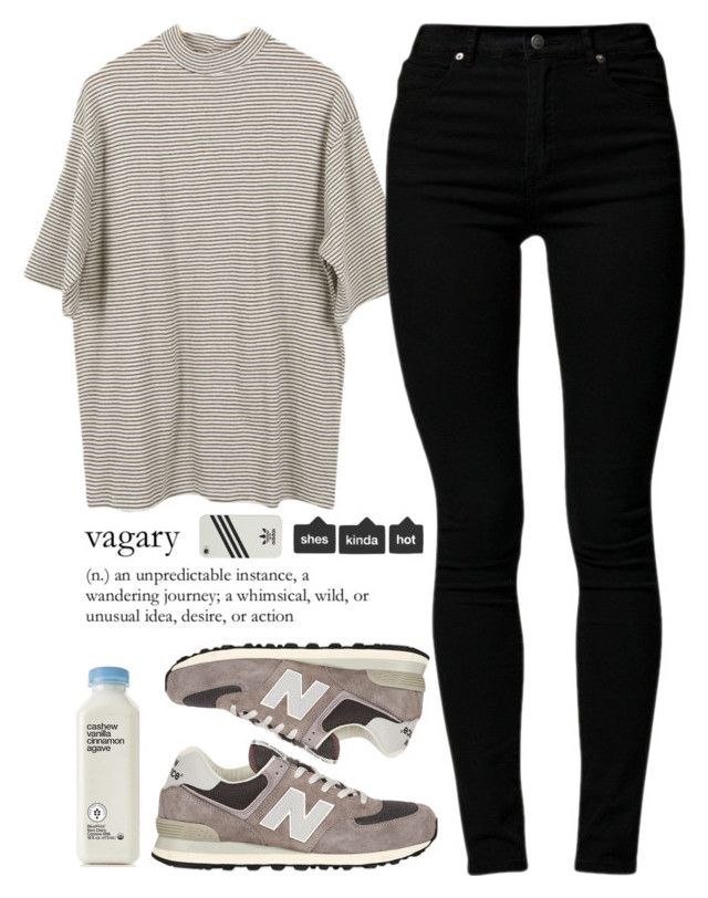 || Coffee Shop - B.A.P || by slayvage on Polyvore featuring Cheap Monday, New Balance, women's clothing, women's fashion, women, female, woman, misses and juniors