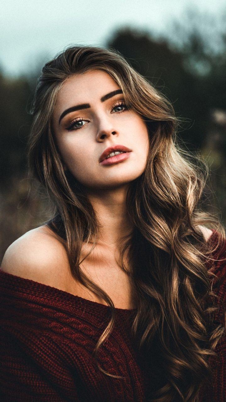 Brunette, outdoor, stunning, woman model, 720×1280 wallpaper