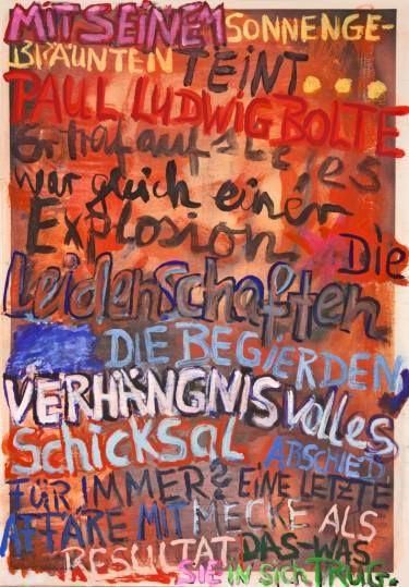 "Saatchi Art Artist Ahmed Borai; Painting, ""Witwe Bolte - Newspaper Art Novel - #12"" #art"